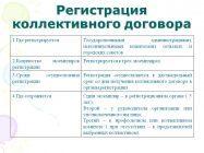 Как и в какие сроки регистрируется коллективный договор или соглашение