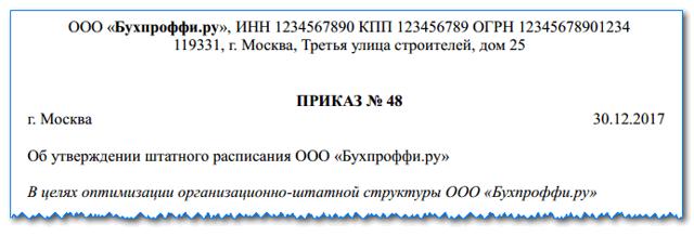 Основы оформления штатного расписания: нормативно-правовые акты, как правильно составить, унифицированный образец